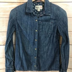 Feed Target Denim Shirt XS Button Down